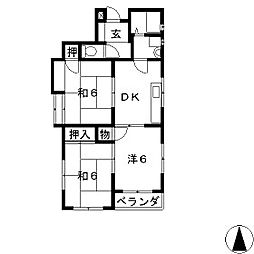 材木町スクエア[3階]の間取り