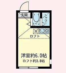神奈川県横浜市港南区大久保3丁目の賃貸アパートの間取り