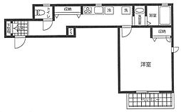 都営大江戸線 築地市場駅 徒歩11分の賃貸アパート 3階1Kの間取り