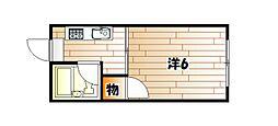 サファイア中原東[1階]の間取り