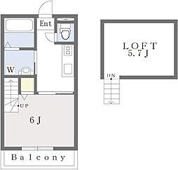 (仮称)古賀市天神7丁目新築アパート 1階1Kの間取り