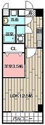 堺町センタービル[12階]の間取り