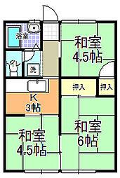 コーポ冨田 I[102号室]の間取り