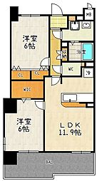 グローバル瀬田[3階号室]の間取り