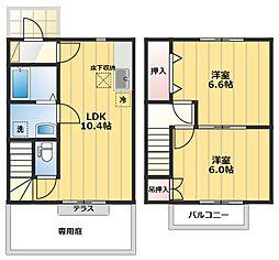 [テラスハウス] 埼玉県熊谷市小八林 の賃貸【埼玉県 / 熊谷市】の間取り