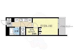 大阪モノレール彩都線 豊川駅 徒歩6分の賃貸アパート 3階1Kの間取り