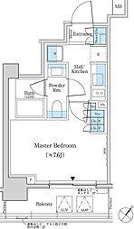 都営新宿線 馬喰横山駅 徒歩4分の賃貸マンション 7階1Kの間取り