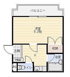 コーポファーストステージ[1階]の間取り