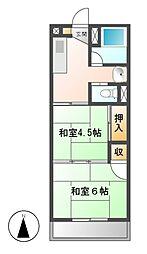 第2ミクニマンション[3階]の間取り