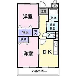 エンブレイス三ツ井[2階]の間取り