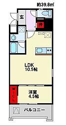Apartment 3771[706号室]の間取り
