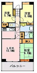 フェリス蘇我[513(A)号室]の間取り