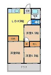 青葉マンション[1階]の間取り