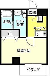 ミュージックマンション メゾ・フォルテ[4階]の間取り