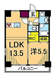 LUXENA東品川 3階1LDKの間取り