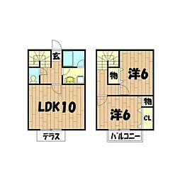 [テラスハウス] 神奈川県横浜市瀬谷区阿久和東3丁目 の賃貸【/】の間取り