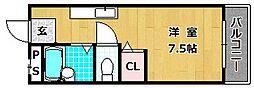 レオハイム長尾III[6階]の間取り