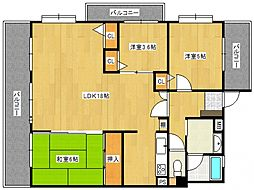 ライオンズマンション五条[501号室号室]の間取り