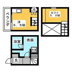 HAWK名古屋[2階]の間取り