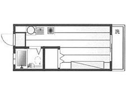 ハイツ境[2階]の間取り