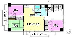 ライオンズマンション三番町[901 号室号室]の間取り