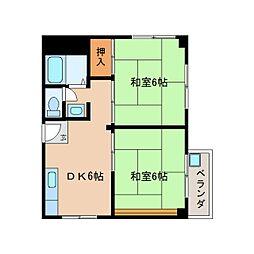 静岡県静岡市清水区楠の賃貸マンションの間取り