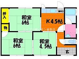 [一戸建] 岡山県倉敷市中島 の賃貸【/】の間取り