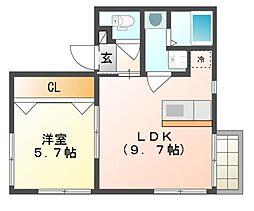 グランシャリオ6番館[1階]の間取り