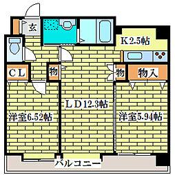 ハイブライト平岡[5階]の間取り