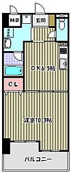 アバンドール三国ケ丘[7階]の間取り