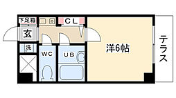 シンフォニー東大沼[108号室]の間取り