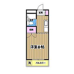東京都昭島市宮沢町3丁目の賃貸マンションの間取り