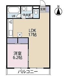 鵠沼アパートメント[3階]の間取り