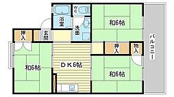 メゾン松本 B棟[201号室]の間取り