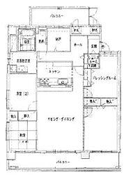 ル・パルクメゾン蒔田[7階]の間取り
