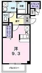 イーストワン[1階]の間取り