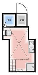 東京都豊島区南大塚2丁目の賃貸アパートの間取り