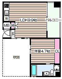 S'z apartment中之島[5階]の間取り