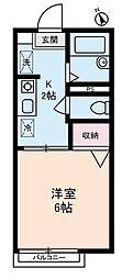 東京都大田区上池台3丁目の賃貸アパートの間取り