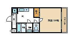 センペル・リンクウ[2階]の間取り