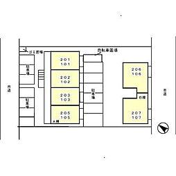 ハイツ グランシャリオ B[2階]の外観