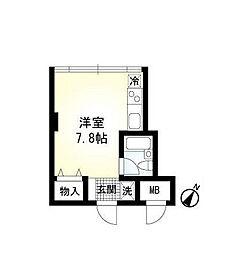 神奈川県横浜市青葉区藤が丘2丁目の賃貸マンションの間取り