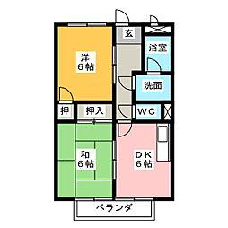 サープラスTWO SUMI A棟[2階]の間取り