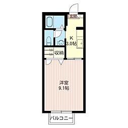 ジナンドモルフD[1階]の間取り
