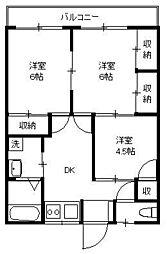 田倉荘[1階]の間取り