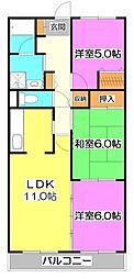 プリムローズ上福岡[2階]の間取り