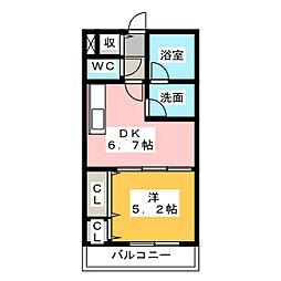 WINDOMII[2階]の間取り