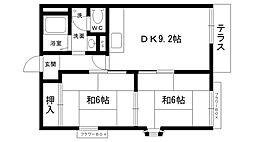 ファミール松籟[102号室]の間取り