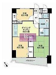 ライオンズマンション横浜駅東[5階]の間取り