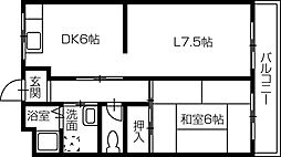宮崎マンション[3階]の間取り